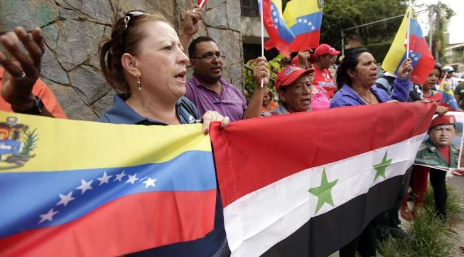 Al-Laham receives a letter of solidarity with Syria from the Venezuelan people
