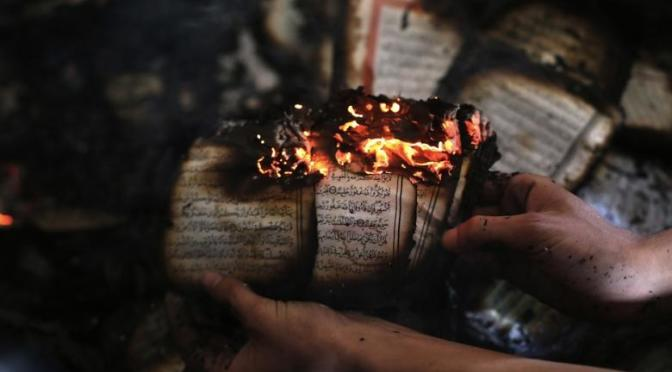 Fanatical Jewish settlers torch mosque, copies of the Quran in West Bank