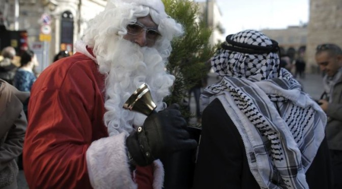 Israeli occupation forces violently disperse peaceful Christmas march in Bethlehem