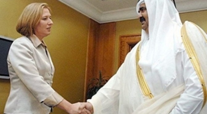 Qatari Emir Gives Dirty Petrodollars to IOF Disabled Terrorists' Org
