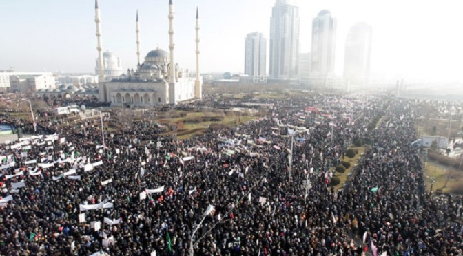 Love to Prophet Muhammad: One million protest Charlie Hebdo cartoons in Chechnya