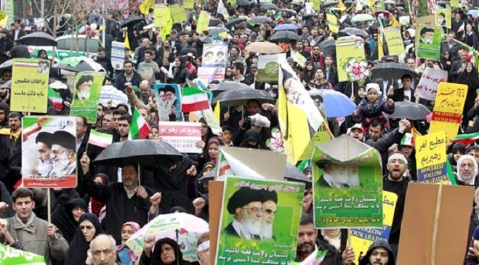 Iranians rally in millions to mark Revolution victory