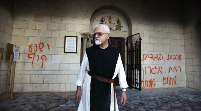 Jewish vandals attack Christian graveyard in northern Palestine