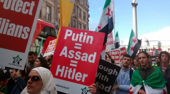 "Idiot ""Save Aleppo"" Protesters Compare Assad To Hitler, Fake SAA Atrocities To ""Holocaust"""