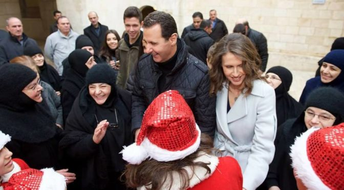 Bashar and Asma al-Assad Visit Saidnaya Monastery For Christmas, Reaffirming Their Status As Protectors Of Syria's Pluralism