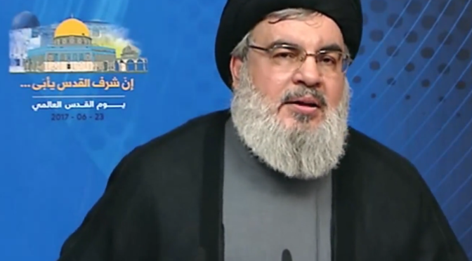 Sayyed Nasrallah Gives Game-Changing Speech For Al-Quds Day, Says Hundreds Of Thousands Of Arab and Muslim Fighters Could Hit 'Israel' In Next War