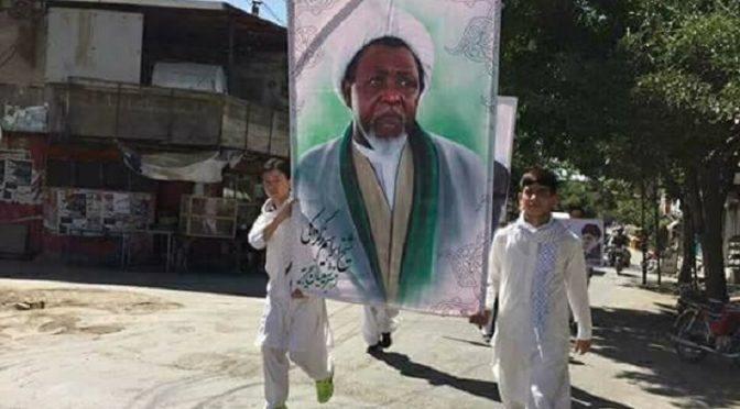 Pakistanis In Quetta Raise Sheikh Zakzaky's Portrait To Mark International Al-Quds Day