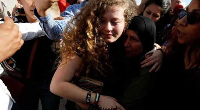 Ahed Tamimi, The Zaynab (A.S.) Of Palestine, Is Finally Free After 8 Months In A Zionist Dungeon
