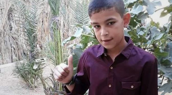 Why We Say DTI: 11-Year Old Palestinian Boy Yasser Amjad Moussa Abou Naja Murdered By 'Israel' In Gaza