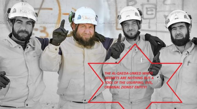 "Crushing Blow To The ""Syrian Revolution"" Narrative: 'Israel' Rescues Al-Qaeda-Linked White Helmets"