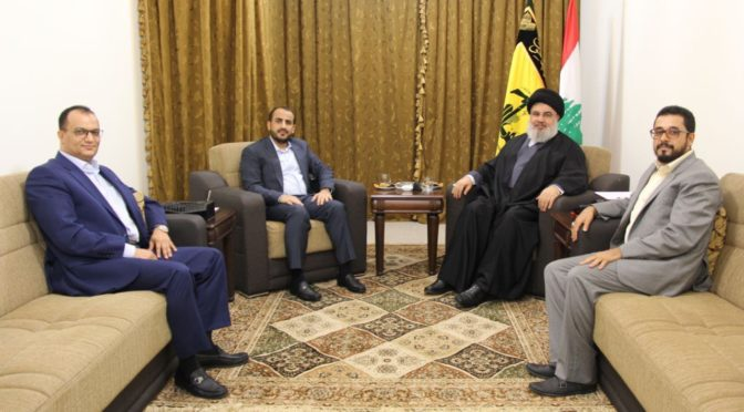 Ansarullah Meets Sayyed Hassan Nasrallah In Lebanon, Salutes Him Back Home On Yemen's Battlefield