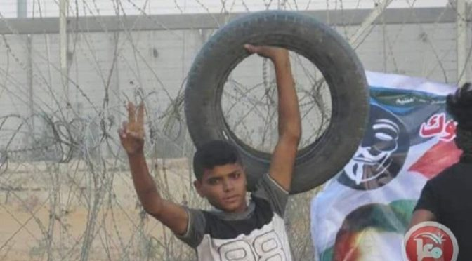Latest Reason For DTI: Another Palestinian Child, 16-Year Old Ahmad Misbah Abou Tyour, Snuffed Out In Gaza