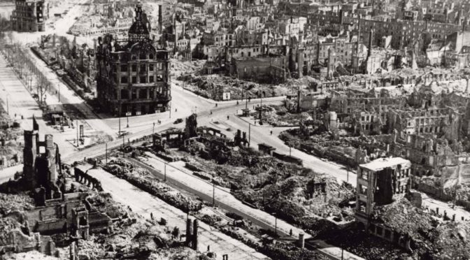 A Real Destruction By Fire: 74 Years Since The US and UK ZOGs Bombed Germany's Dresden To Ash