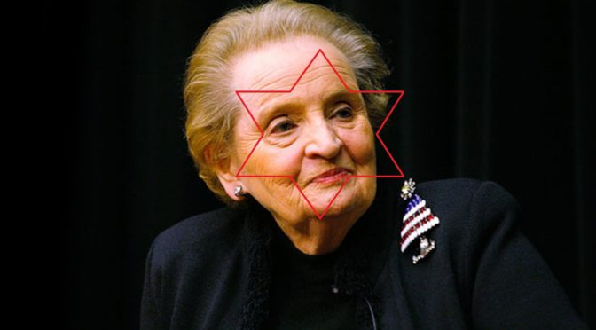 The Yugoslavia War, Now 20 Years Old, Was A Product Of Jewish Warmonger Madeleine Albright's Hate and Quest For Revenge
