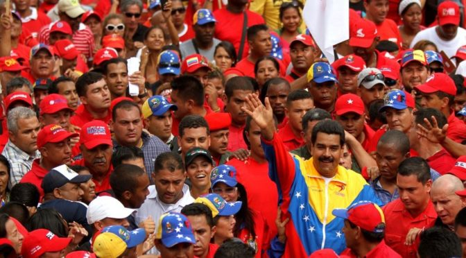 Amid Bolton's Latest Warmongering, Zionist Media Covers Up Venezuelans' Mass Support For Nicolas Maduro